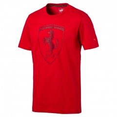 Pánské tričko Puma Ferrari Ferrari Big Shield Tee Rosso C | 573467-02 | Červená | L