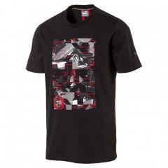 Pánské tričko Puma Ferrari Ferrari Graphic Tee Moonless N | 572804-01 | Černá | XL