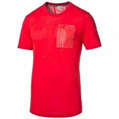 Pánské tričko Puma Ferrari Ferrari Small Shield Tee rosso