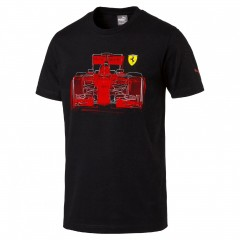 Pánské tričko Puma Ferrari SF Graphic Tee Puma Black S