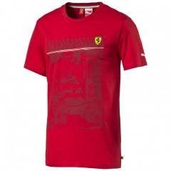 Pánské tričko Puma Ferrari SF Graphic Tee rosso corsa S