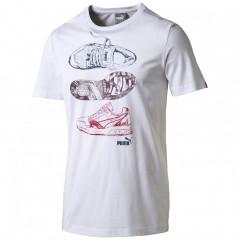 Pánské tričko Puma Trinomic Tee white L