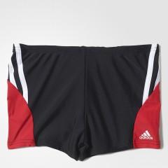 Plavky pro kluky adidas BTS BX 3S KB 116 BLACK/RAYRED