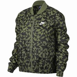 Dámská bunda Nike W NSW JKT TANGRAMS | 829729-331 | Zelená, Černá | M