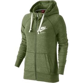 Dámská mikina Nike W NSW GYM VNTG HOODIE FZ | 726057-387 | Zelená | L