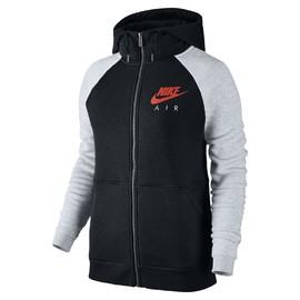 Dámská Mikina Nike W NSW RALLY HOODIE FZ AIR | 831834-010 | Šedá, Černá | M