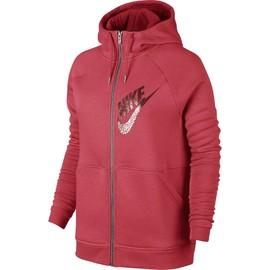 Dámská mikina Nike W NSW RLY HDY FZ GX1 | 829628-850 | Červená | L