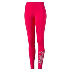Dámské legíny Puma FUN Leggings W rose red-(scrip