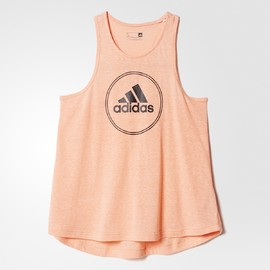 Dámské tílko adidas LOGO TANK | AJ6384 | Oranžová | M
