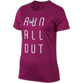 Dámské Trička Nike W NK DRY TEE LGD RUN OUT | 831915-607 | Růžová | L