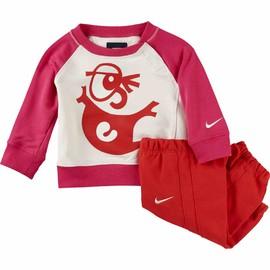 Dětská souprava Nike LS BF GFX CREW WARM UP INF | 622151-134 | Červená | 24-36