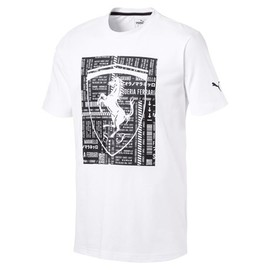 Ferrari Big Shield Tee Puma White