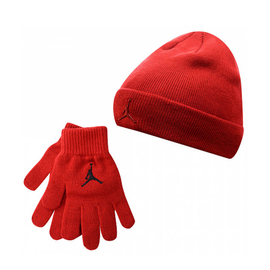 Metal jumpman beanie & glove set