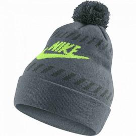 Pánská čepice Nike FUTURA POM BEANIE- RED | 805950-392 | Šedá | MISC
