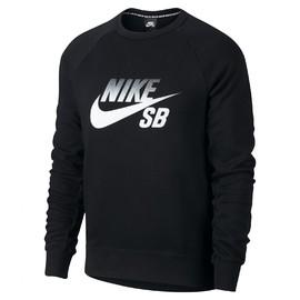 Pánské Trička Nike M NK SB ICON CREW FADE | 888854-010 | Černá | 2XL