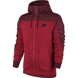 Pánská mikina Nike M NSW AV15 HOODIE FZ SSNL   807415-657   Červená   XL