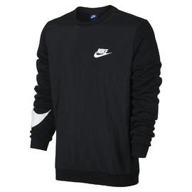 Pánské Trička Nike M NSW CRW FLC HYBRID | 861716-010 | Černá | L