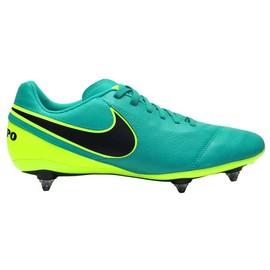 Pánské kopačky Nike TIEMPO GENIO II LEATHER SG | 819715-307 | Tyrkysová, Žlutá | 42