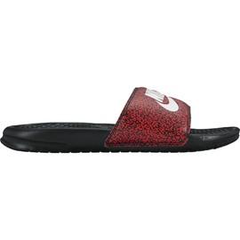 Pánské nazouváky Nike BENASSI JDI PRINT   631261-603   Červená, Černá   46