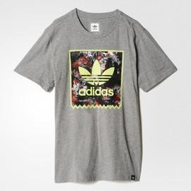 Pánské tričko adidas Originals FLRL STORM FILL | AB3203 | Šedá | XL