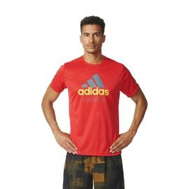 Pánské tričko adidas PES RUN | AY6983 | Červená | S