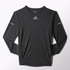 Pánské tričko adidas RUN LS TEE M   S03018   Černá   S