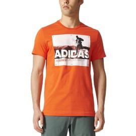 Pánské tričko adidas TRAIL RUN TEE | BR7202 | Oranžová | S