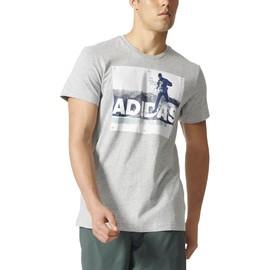 Pánské tričko adidas TRAIL RUN TEE | BR7205 | Šedá | S