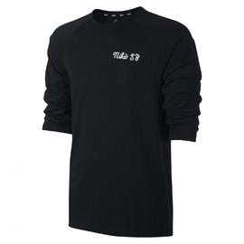 Pánské Trička Nike M NK SB DRY CREW 3QT GFX | 860120-010 | Černá | 2XL