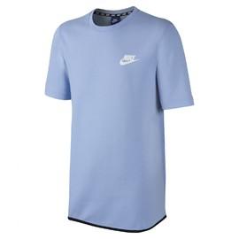 Pánské Trička Nike M NSW AV15 TOP SS FLC SU | 833892-450 | Modrá | L