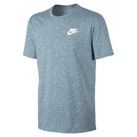 Pánské Trička Nike M NSW TEE SWSH PLS AOP | 834699-408 | Modrá | L
