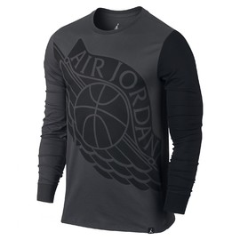 Pánské Trička Nike STRETCHED WINGS L/S TEE | 834482-010 | Černá | L