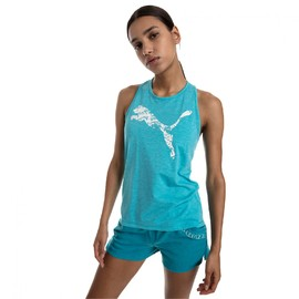 Twist It Logo Tank Caribbean Sea Heather
