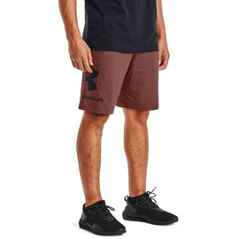Ua cotton big logo shorts-red