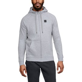 Under Armour Rival Fleece FZ Hoodie-GRY