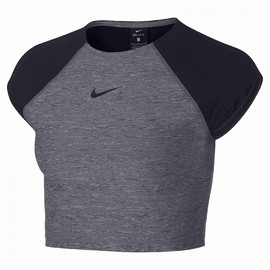 W NP CROP TOP NIKE HTHR